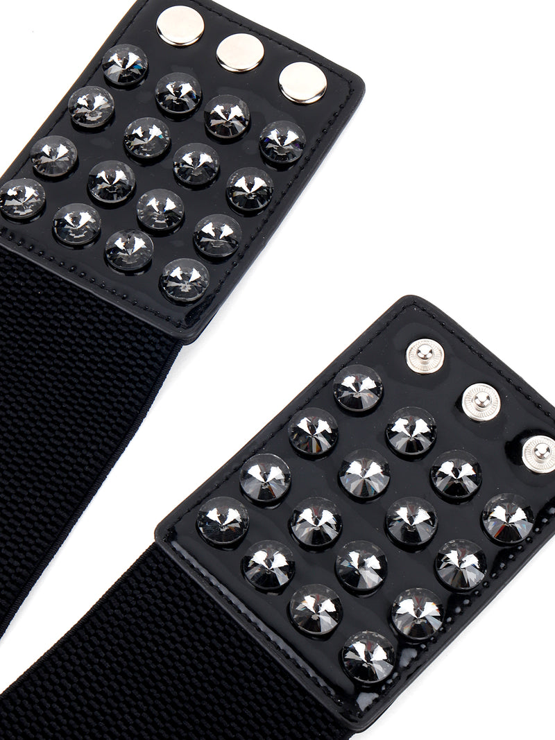 Silver Studded Broad Belt