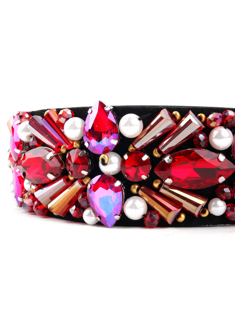 Starry Pink Studded Hair Band
