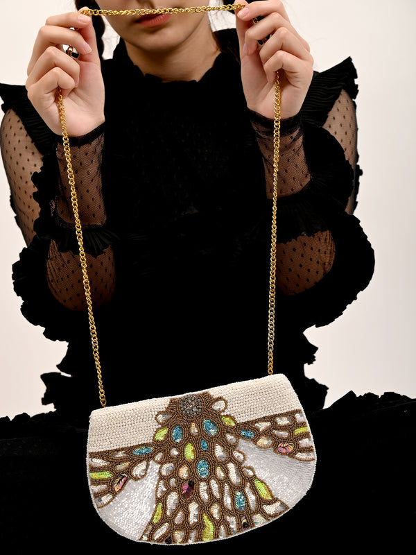 Embellished Multi-Coloured Sling Bag