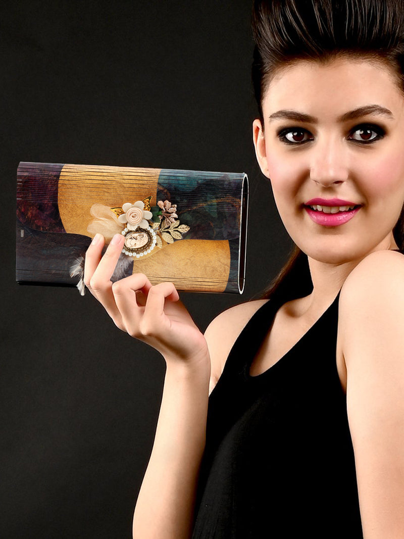 Multi Color Designer Clutch