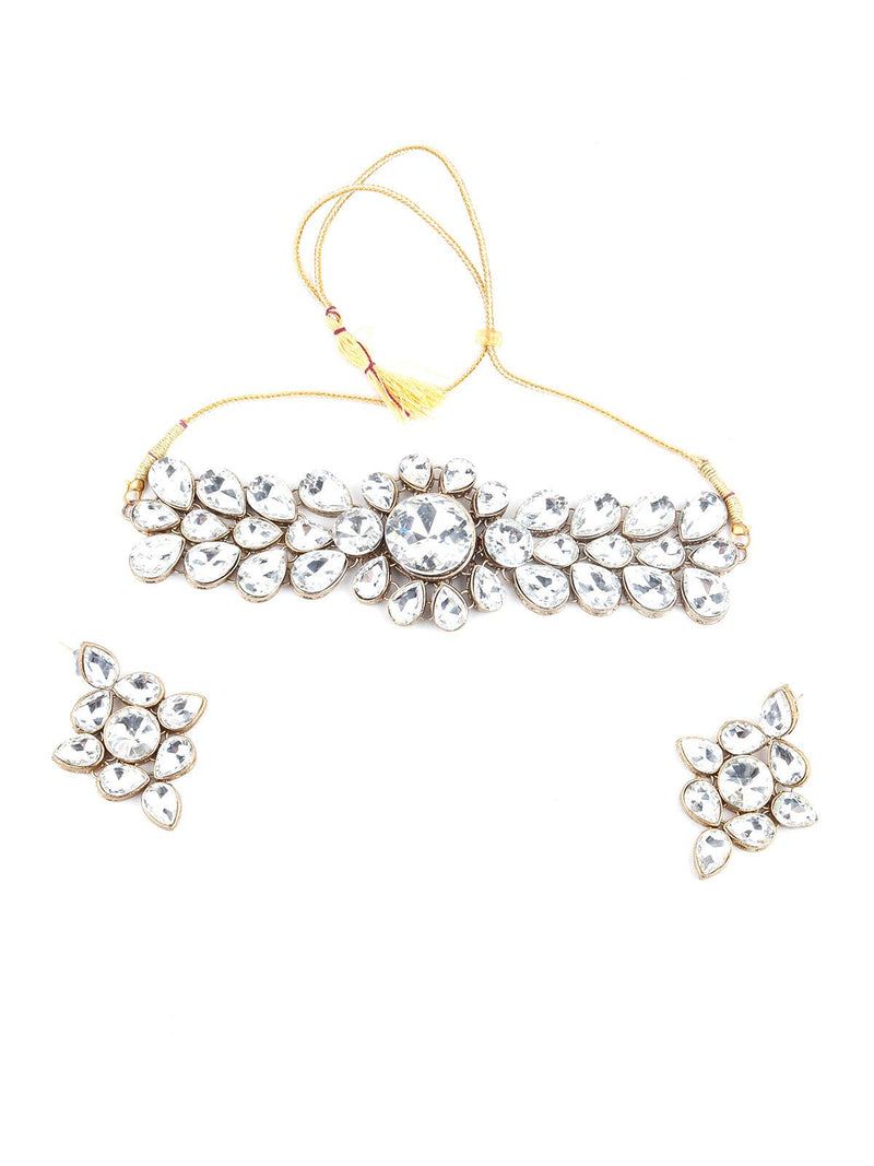 White Crystal Jewellery Set