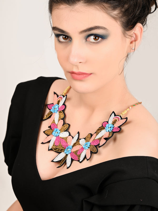 Beaded Multicolour & Necklace