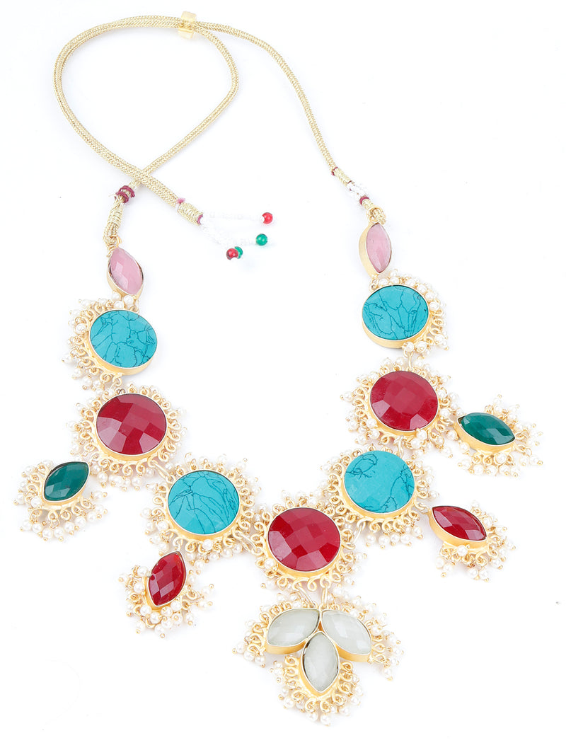 Coloured Rhinestone Necklace