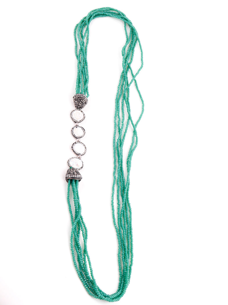 Green Layered Crystal Chain