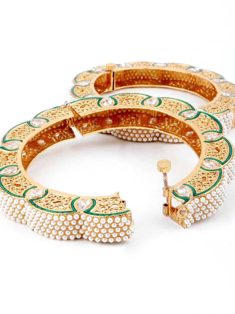 Traditional open able bangle with crafting work