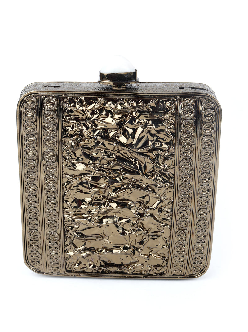 Bronze Antique Stoned Clutch