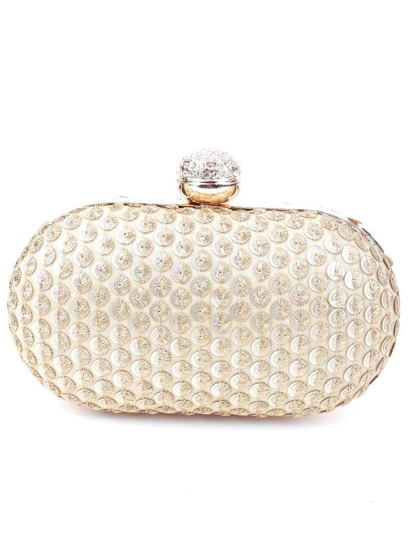 Golden Sequins Clutch