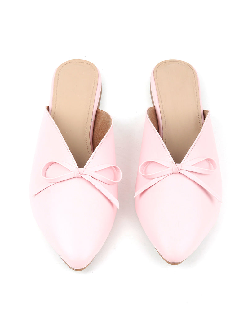 Closed Toe Pink Mules