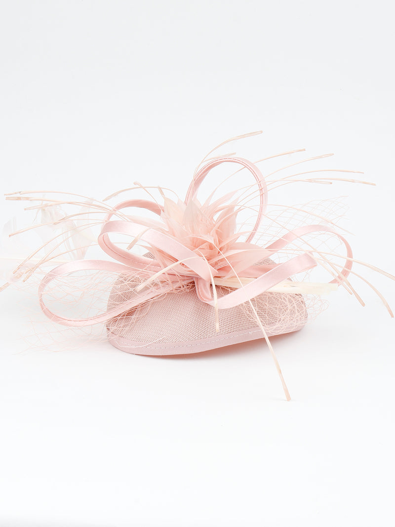 Pink Feather Fascinator Hat