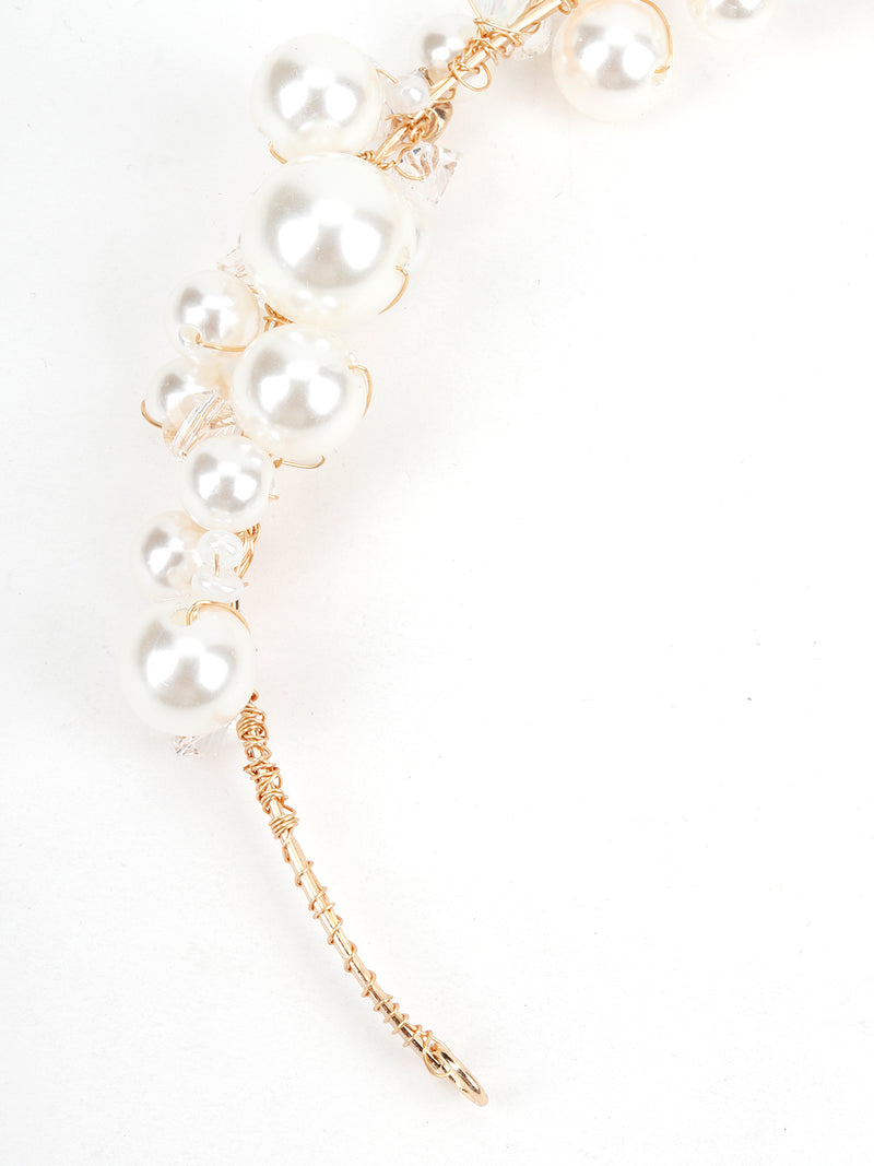 White Rhinestones Binge Hairband