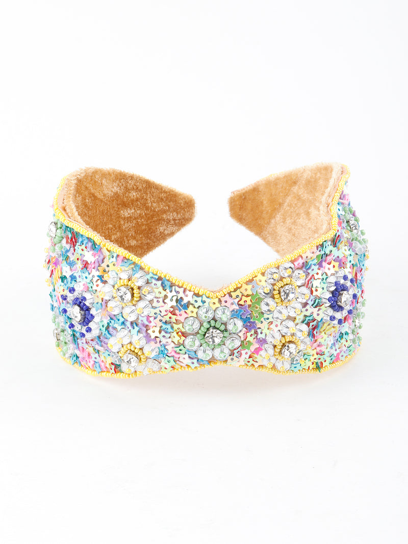 Multicolour Tickle Velvet Hairband