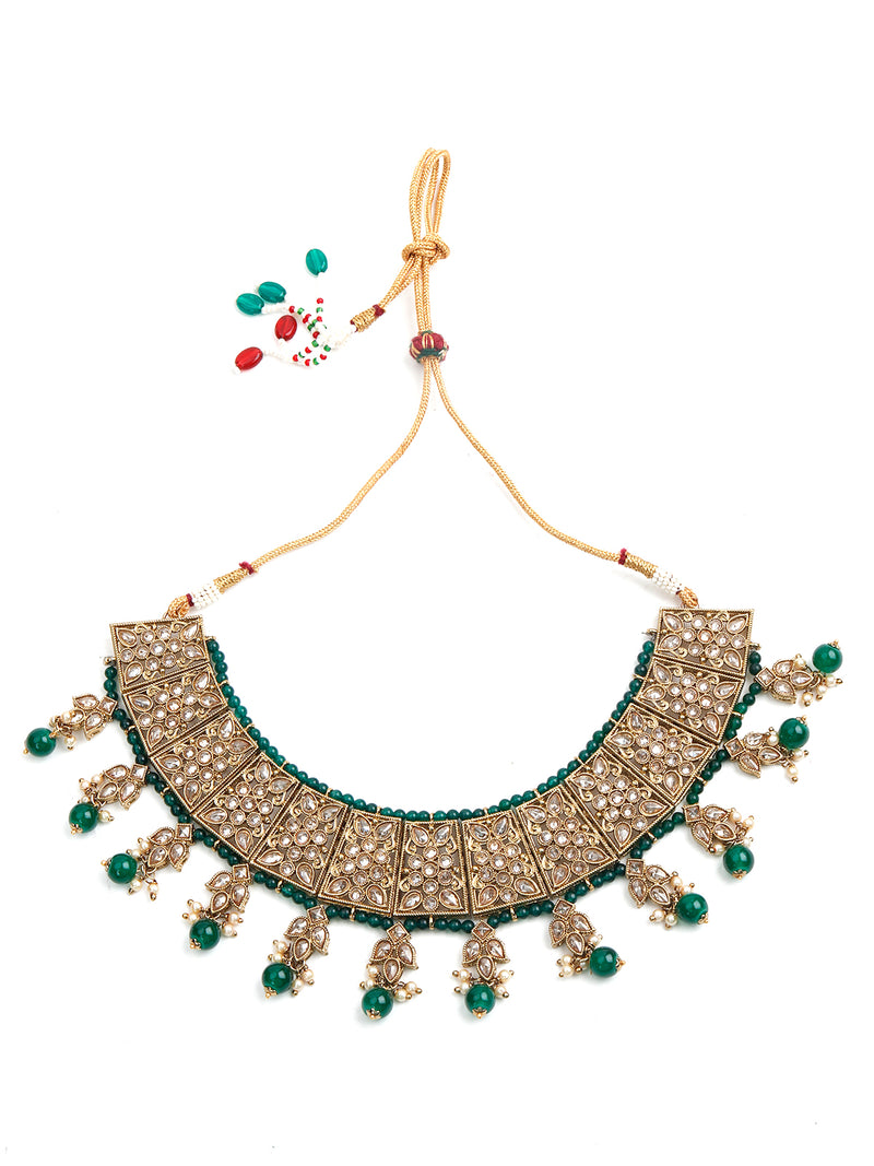 Beautiful Green Choker Set