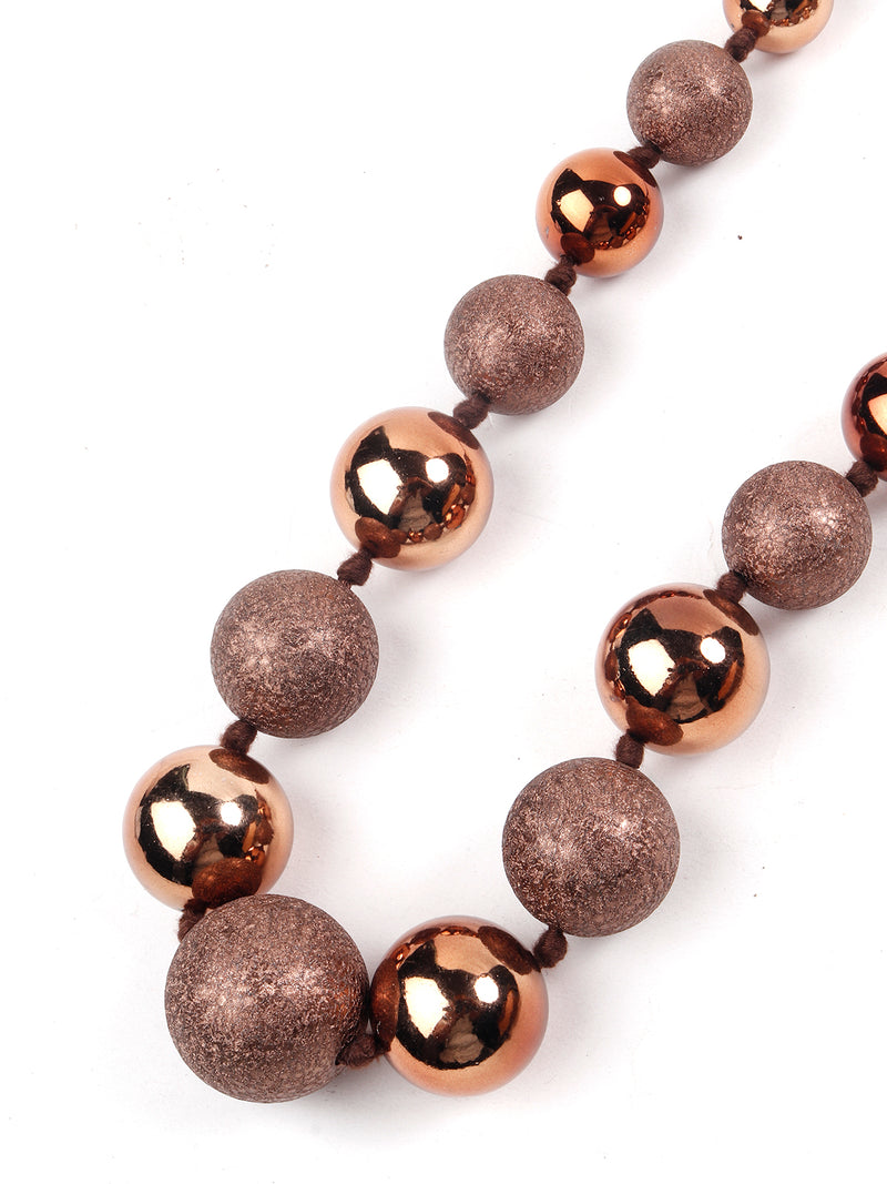 Copper Decorative Ball Necklace