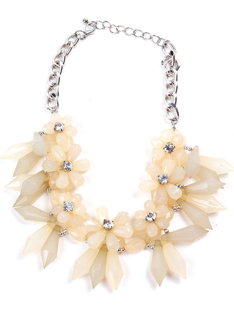 Lime Yellow Floral Pretty Necklace