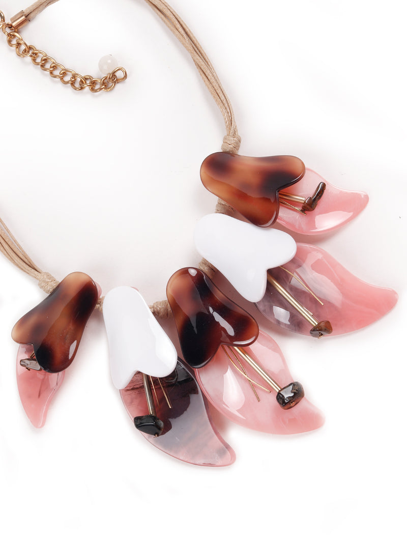 Seaside feels Pink –Brown Necklace