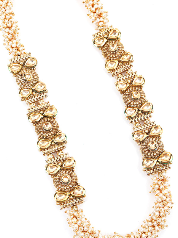 Enticing Gold Tone Pearl Necklace Set