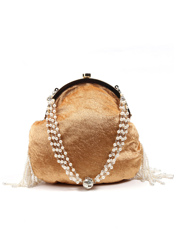 Beige Lovely Batuwa Handbag
