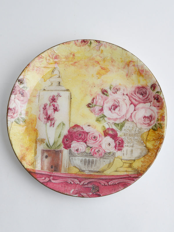 Yellow Victorian Wall Hanging Plate