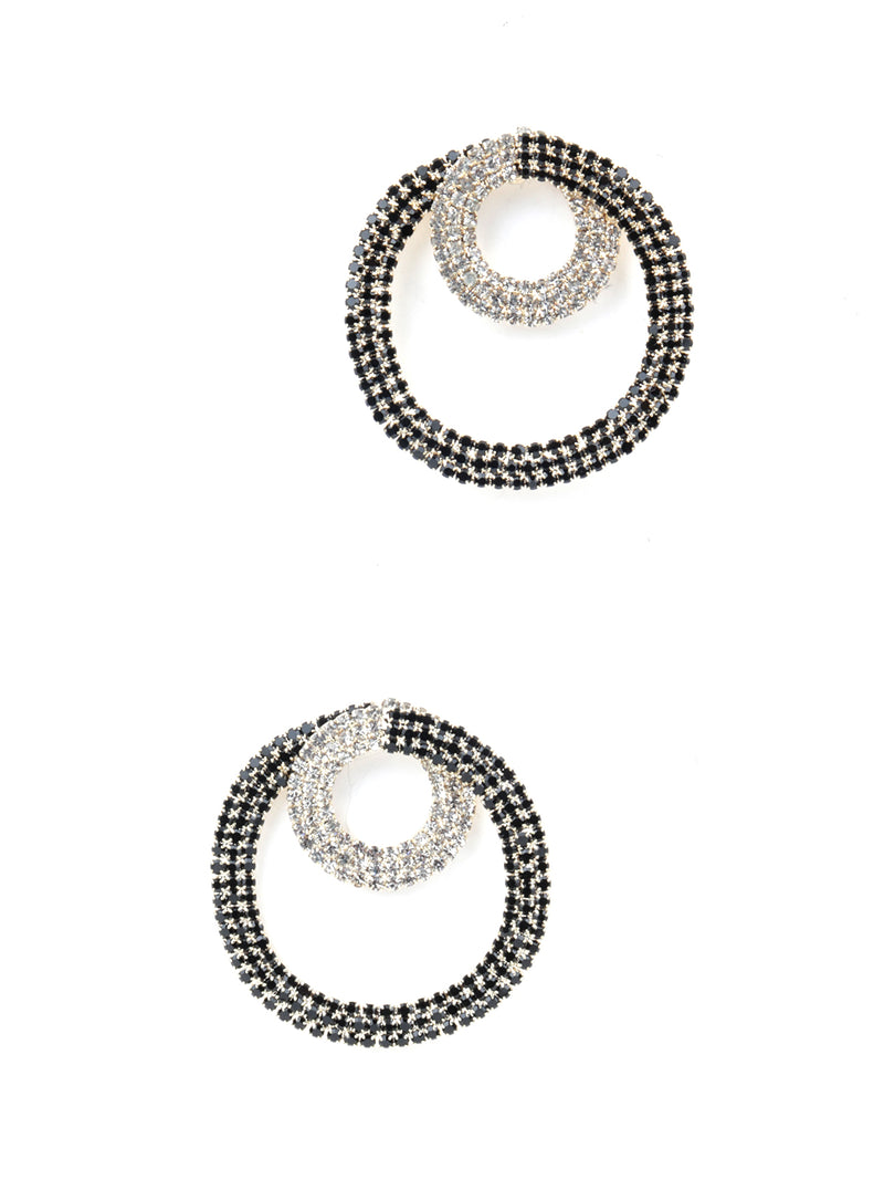 Black Round Magical Studs