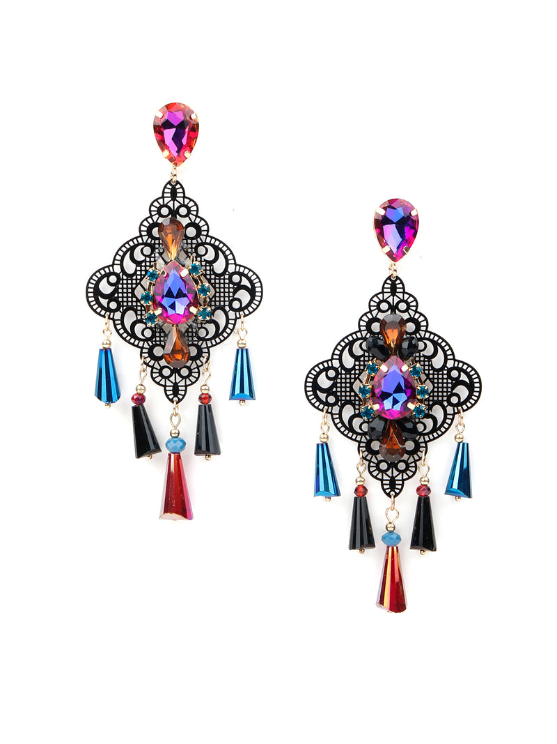 Multicolour Fancy Dangle Earrings