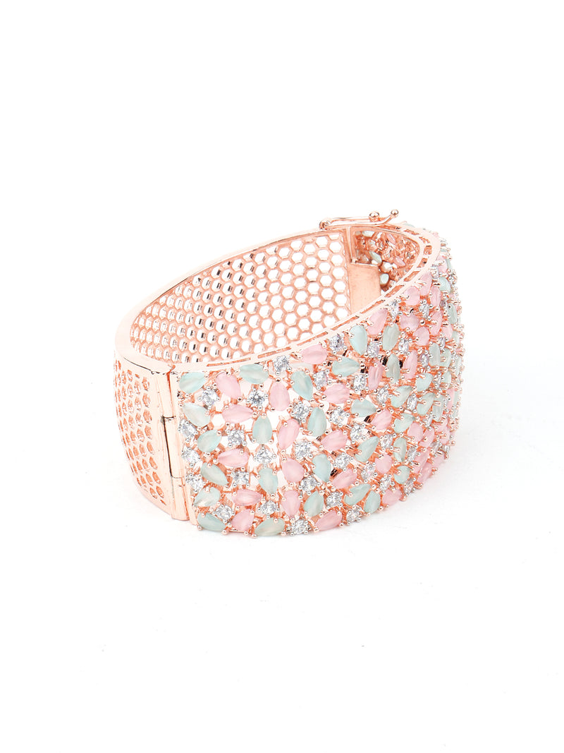 Copper Shade Studded Crystal Bracelet