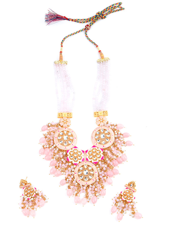 Shades of Pink 5 Layered Floral Chain