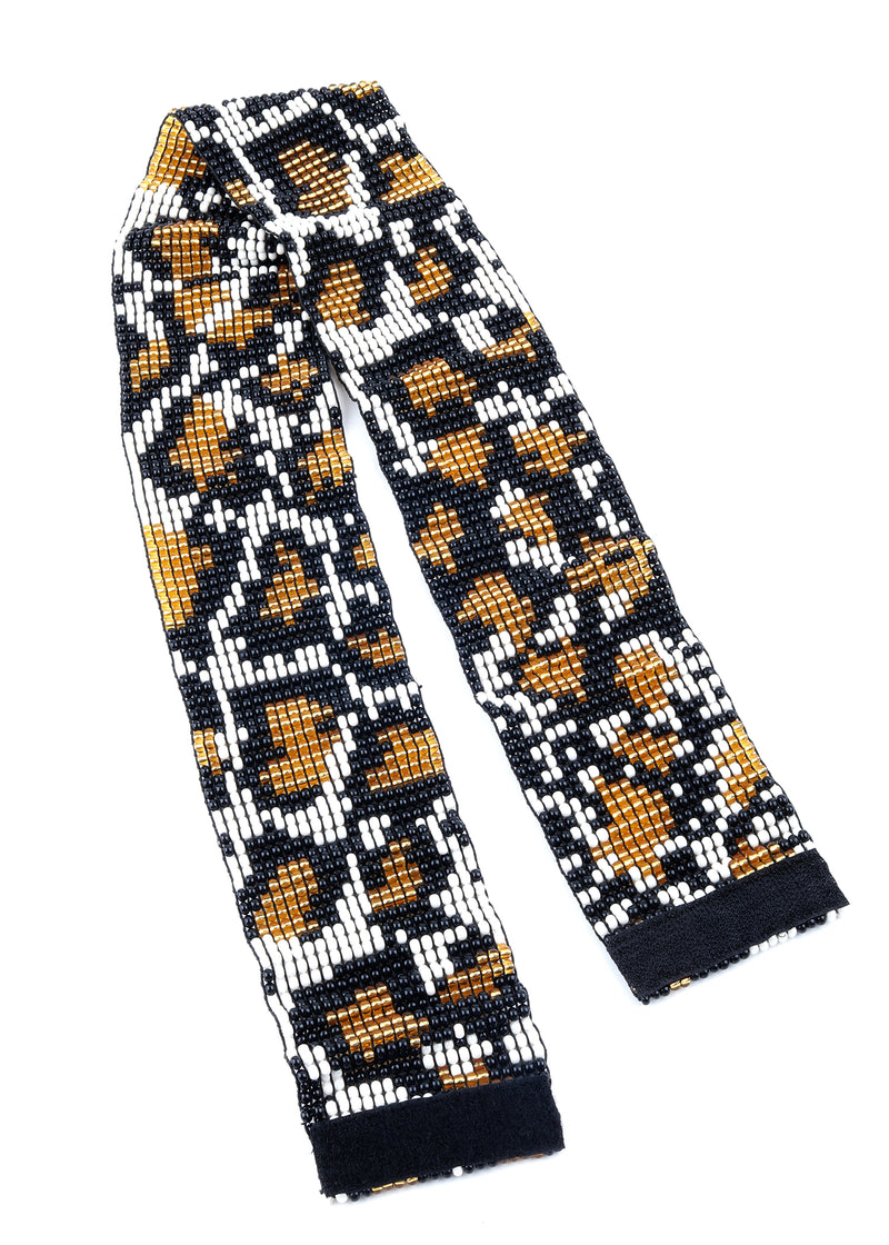 Pixel Animal Print Embroidered Belt