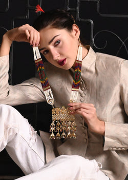 Elite Multicolor Rani Haar Necklace Set