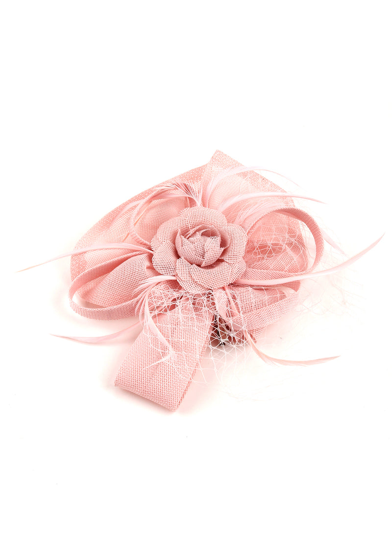 Baby Pink Embellished Fascinator