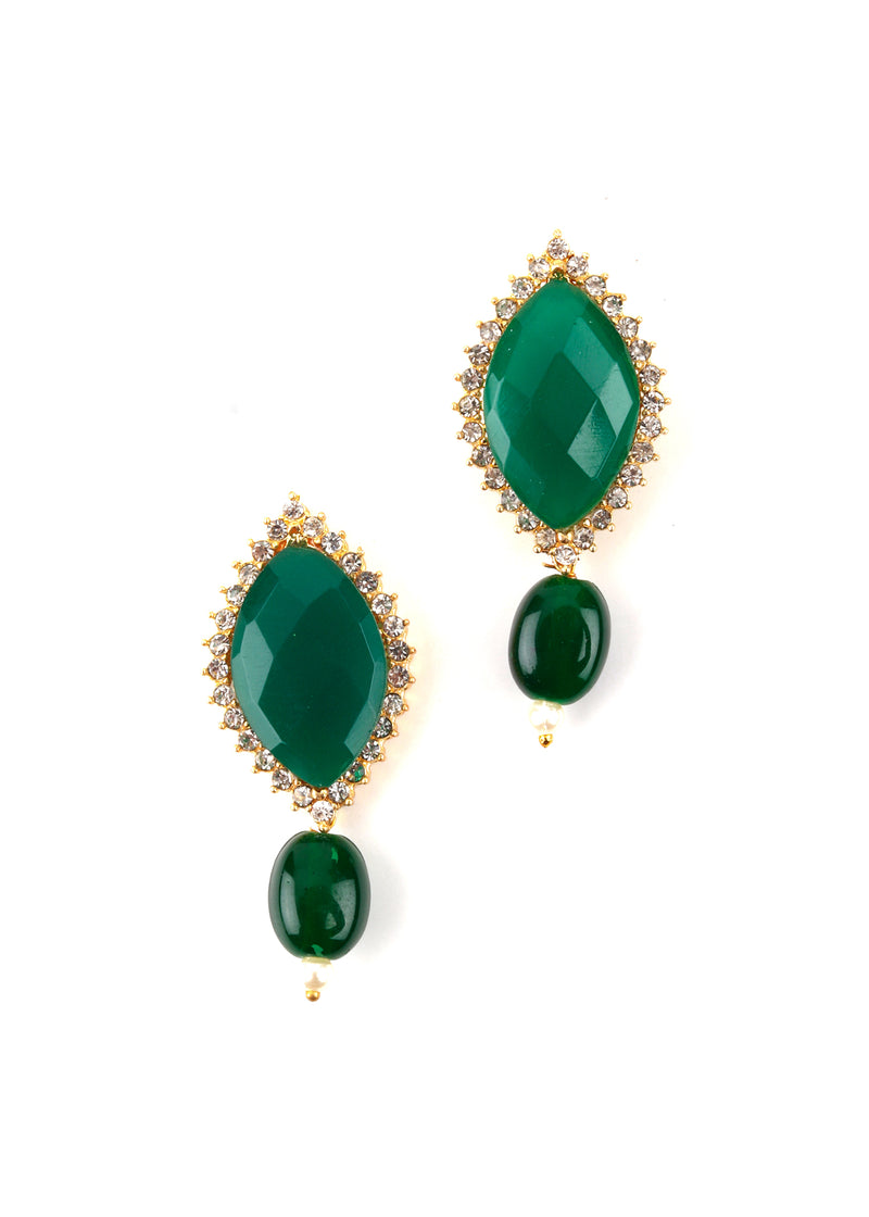 Emerald Green Royal Necklace Set