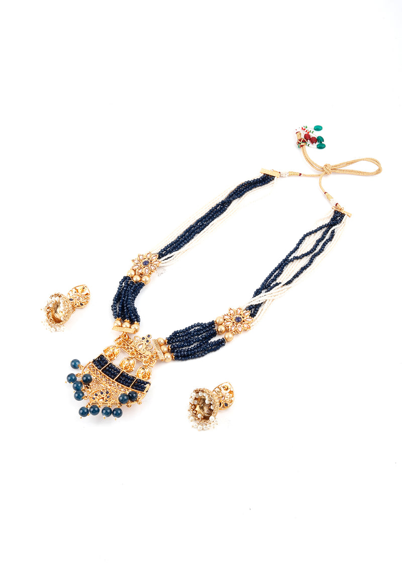 Midnight Blue Rani Necklace Set