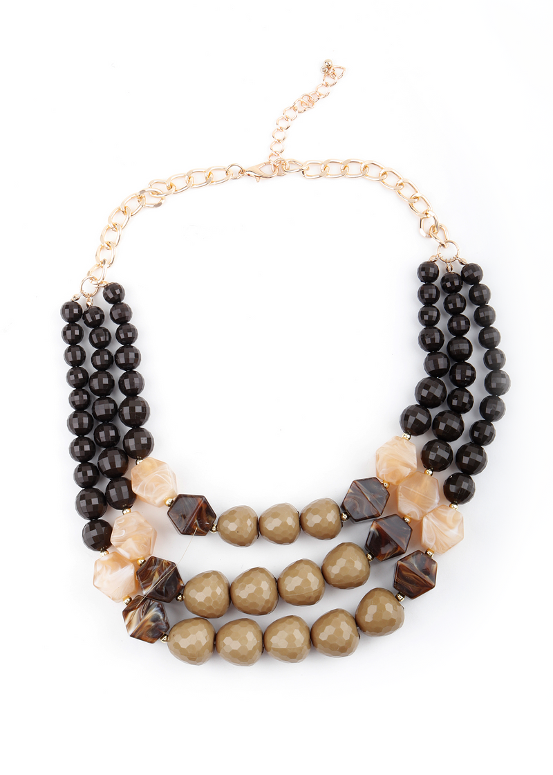 Chunky Multicolor Beads Necklace