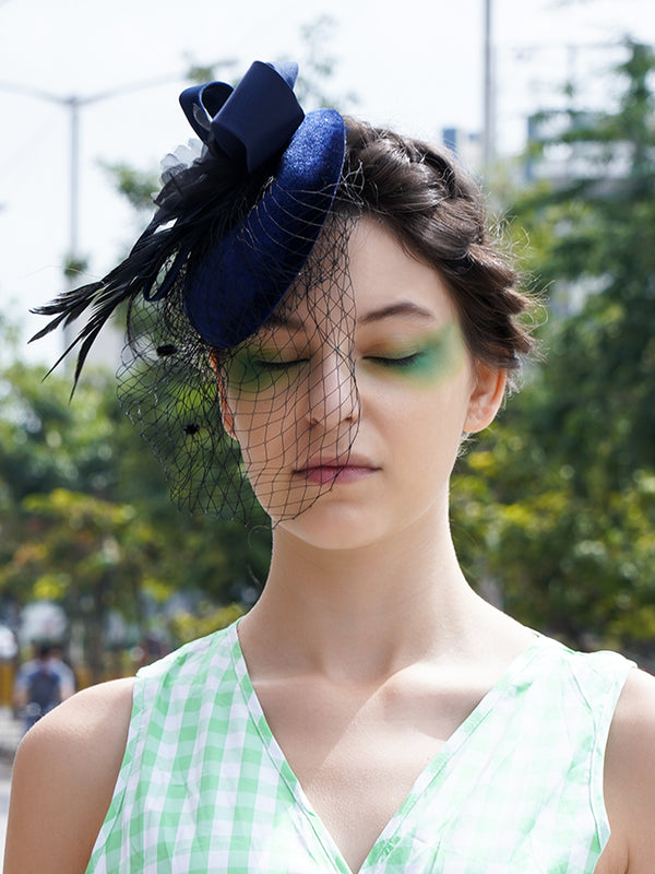 Blue Loopy-Netted Sophisticated Hair Cap