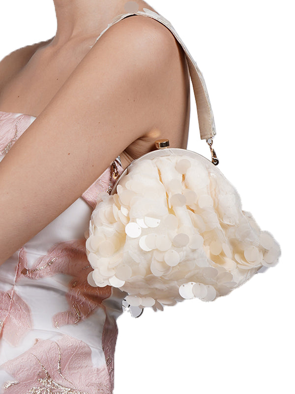 Peach Sequin Adorable Batuwa Bag