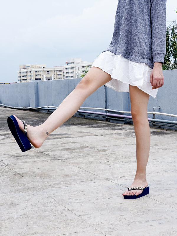 Blue Stylish Slippers/Slip-on