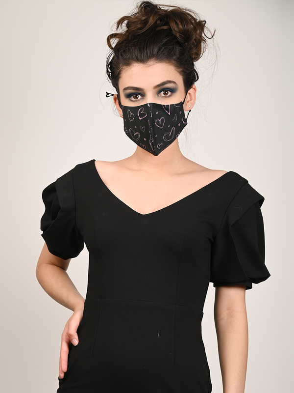 Black-Purple Trendy Protective Mask