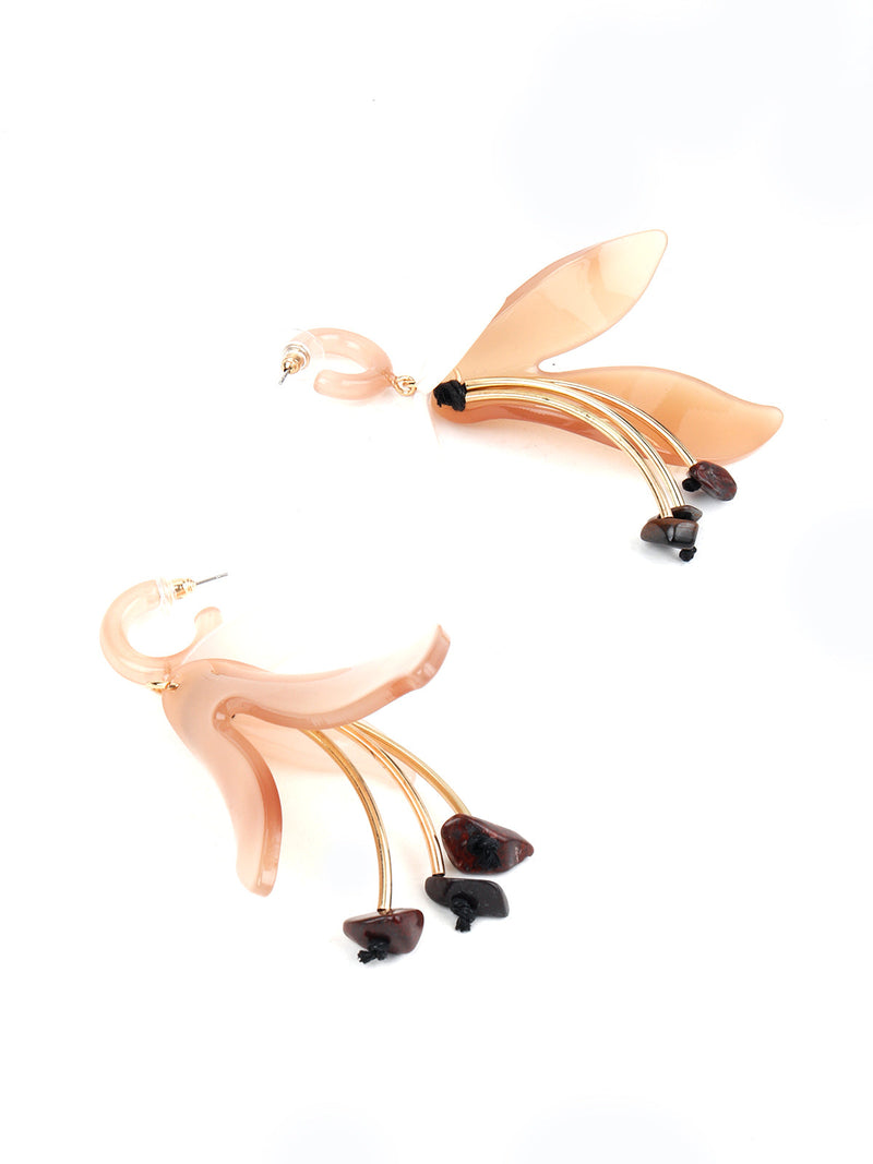 Gorgeous Gold Statement Dangle Earrings