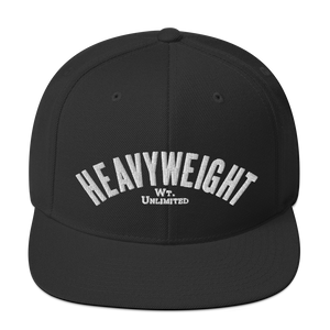 HEAVYWEIGHT Classic Snapbacks by Boxing Aficionado - Black/White