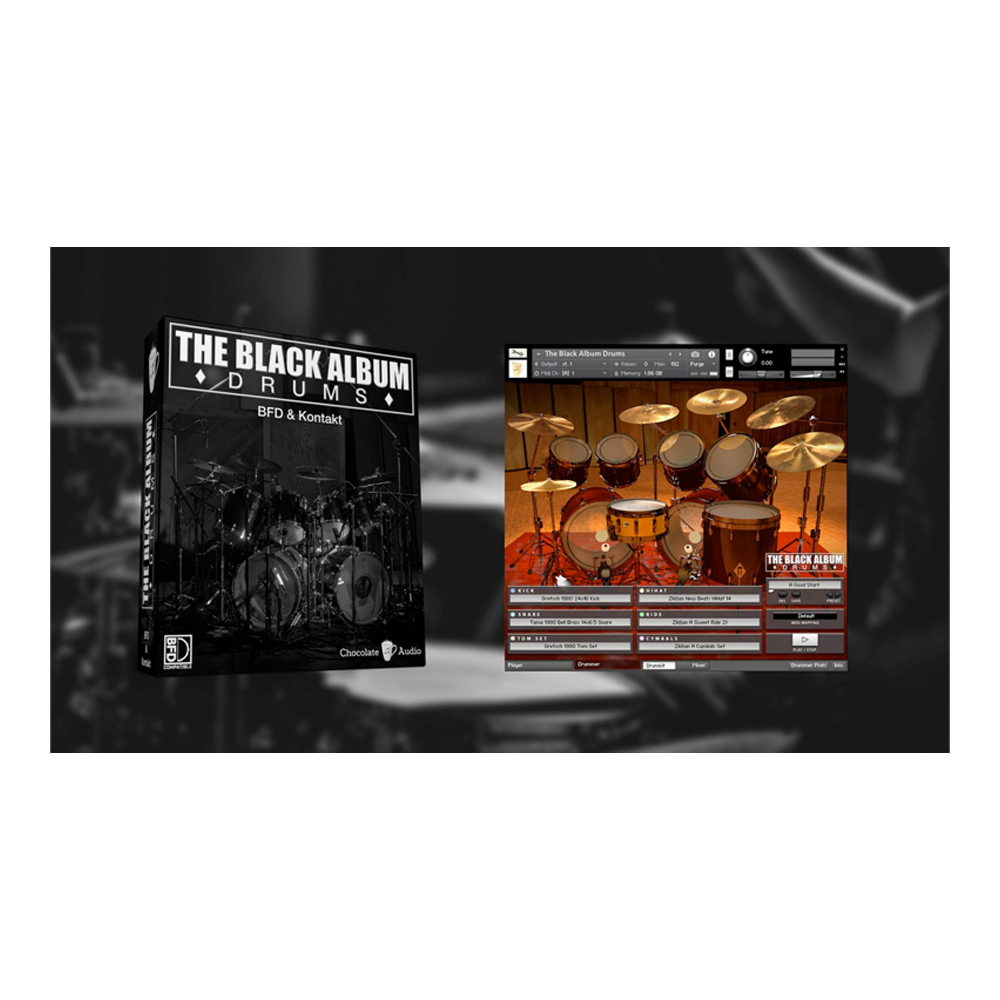 Chocolate Audio - The Black Album Drums (BFD3 & Kontakt)