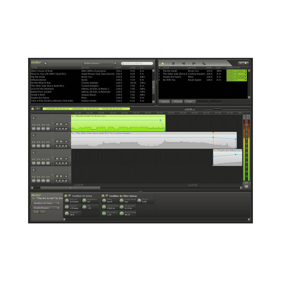 MixMeister - Studio (DJ Sequencer Software)