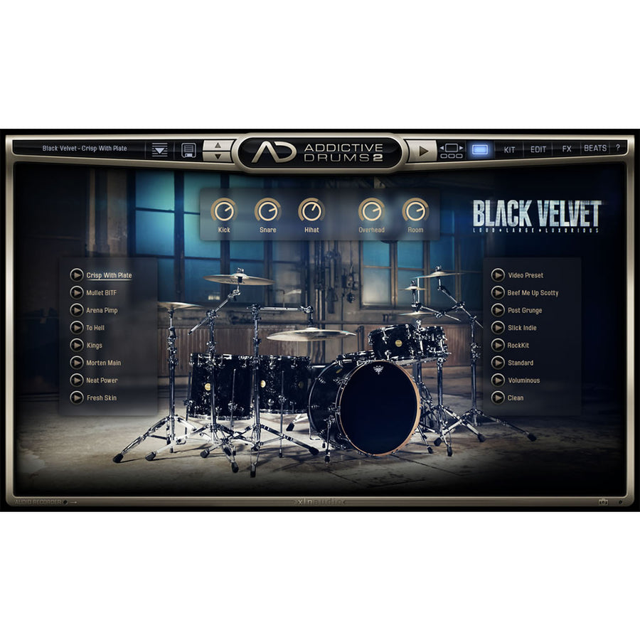 XLN Audio - Addictive Drums 2: Black Velvet ADpak
