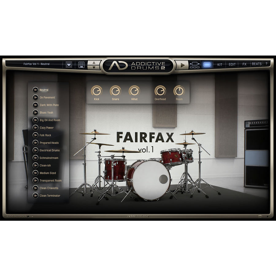 XLN Audio - Addictive Drums 2: Fairfax Vol. 1 ADpak