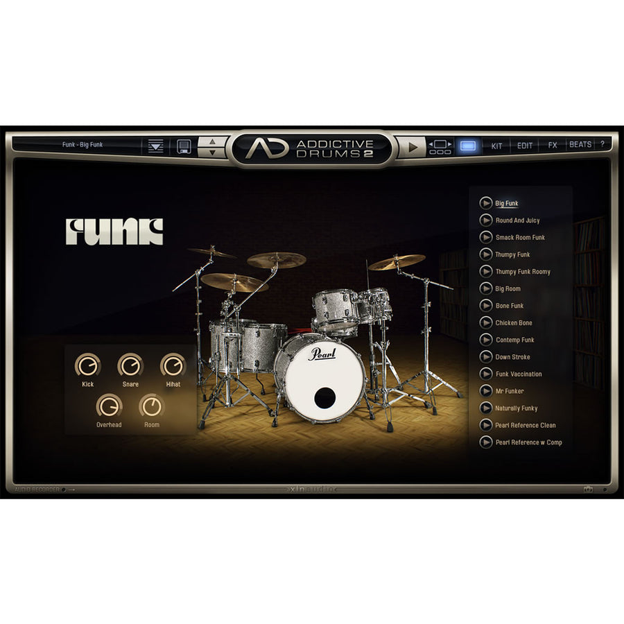 XLN Audio - Addictive Drums 2: Funk ADpak
