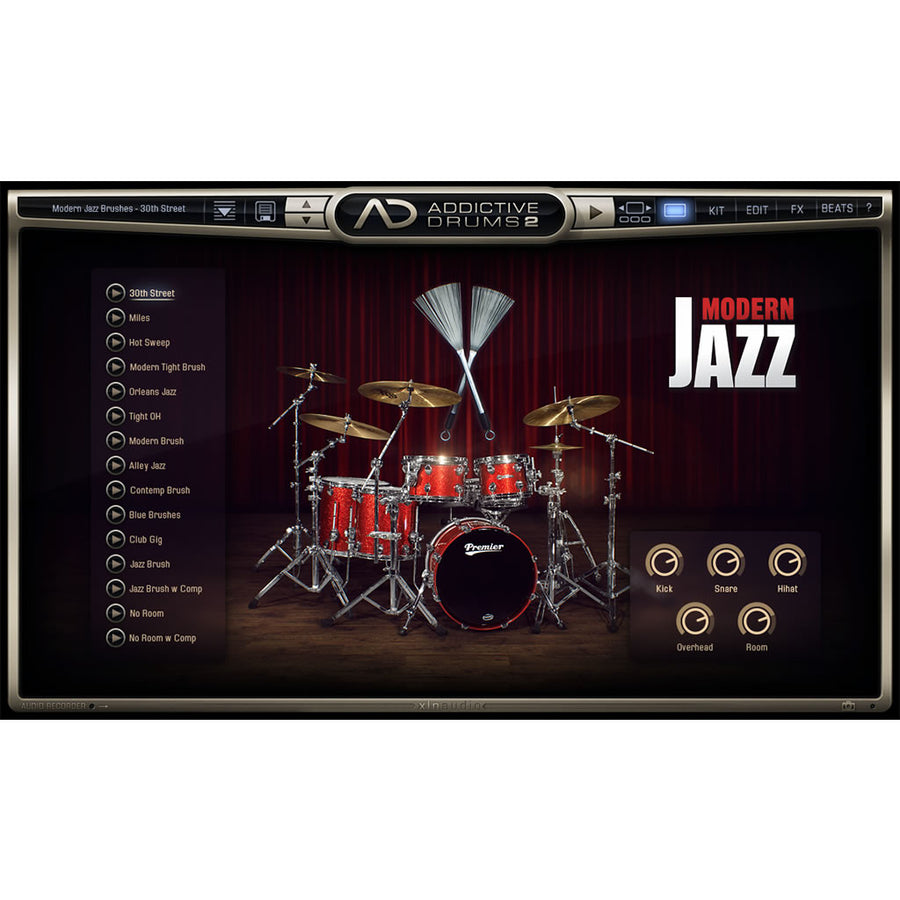 XLN Audio - Addictive Drums 2: Modern Jazz Brushes ADpak