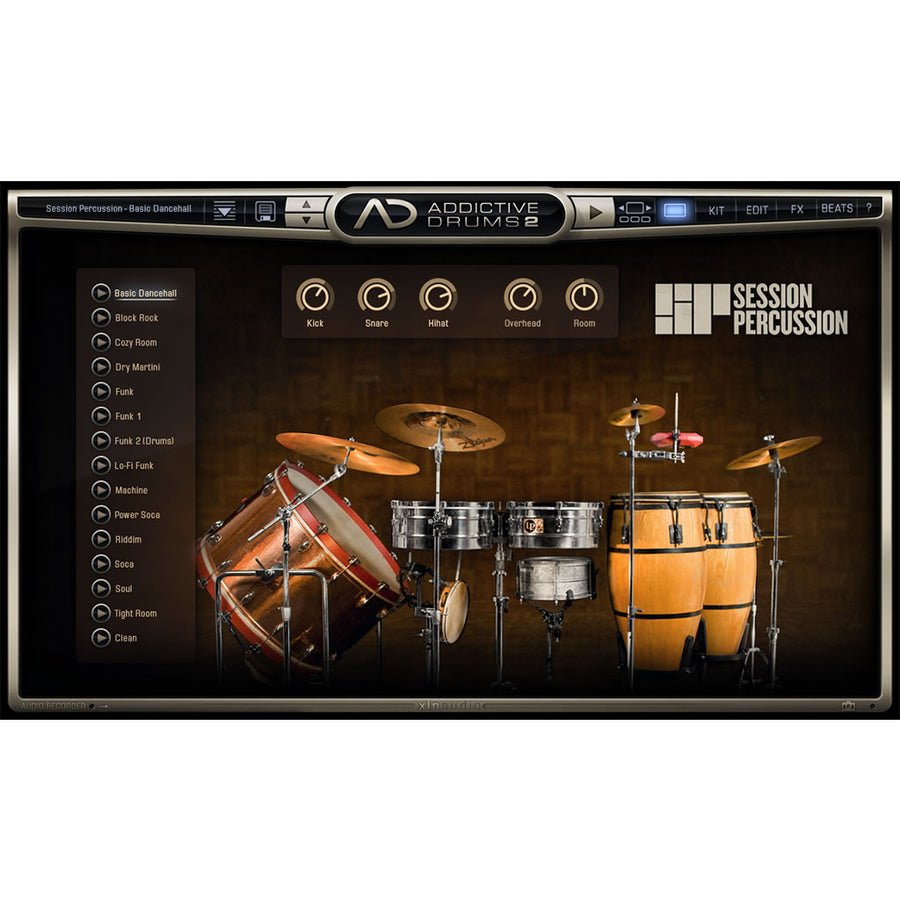 XLN Audio - Addictive Drums 2: Session Percussion ADpak