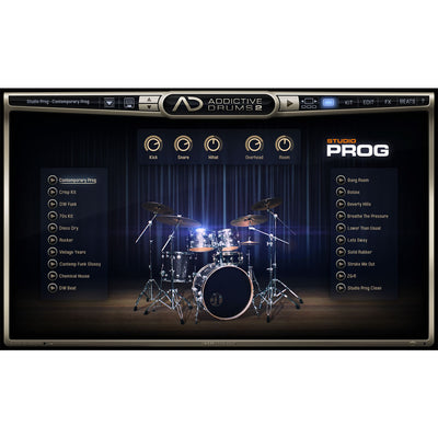 XLN Audio - Addictive Drums 2: Studio Prog ADpak