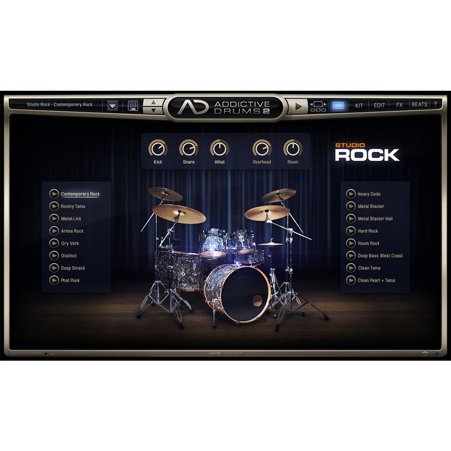 XLN Audio - Addictive Drums 2: Studio Rock ADpak