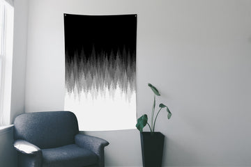 Gradient Forest Wall Flag