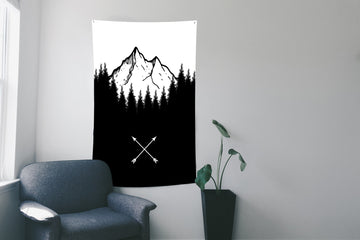 Mountains Wall Flag