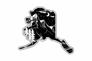 Dark Landscape Alaska Sticker